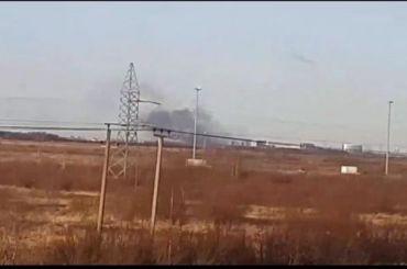 Горит бывшее здание аэропорта Пулково вАвиагородке