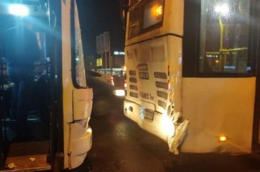 Автобусы столкнулись наТаллинском шоссе