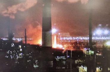 Загорелся нефтеперерабатывающий завод вУхте