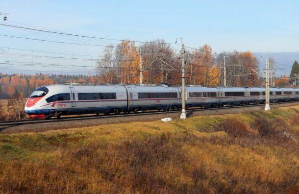 «Сапсан» изМосквы прибыл вПетербург почти счасовой задержкой