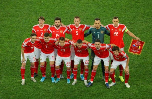 Сборная России пофутболу сохранила 38-е место врейтинге FIFA