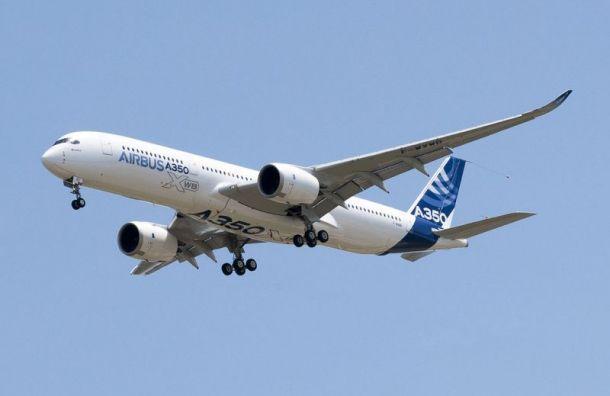 Первый Airbus A350−900 для «Аэрофлота» проходит испытания воФранции