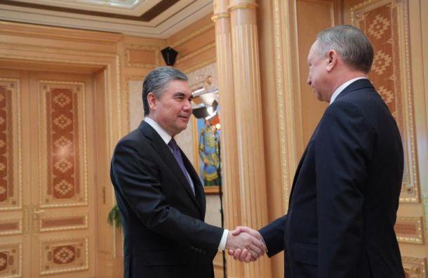 Беглов намерен поставлять лекарства истроить дороги вТуркменистане