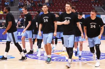 Баскетболисты «Зенита» почтили память погибшего Коби Брайанта