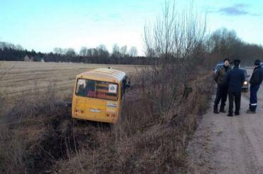 Школьный автобус вылетел вкювет вЛенобласти