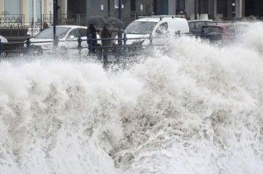Из-за штормового ветра вПетербурге объявлен оранжевый уровень опасности