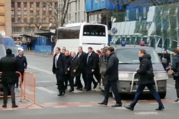 «Рука обруку»: Беглов проводил Путина кпамятнику Собчаку