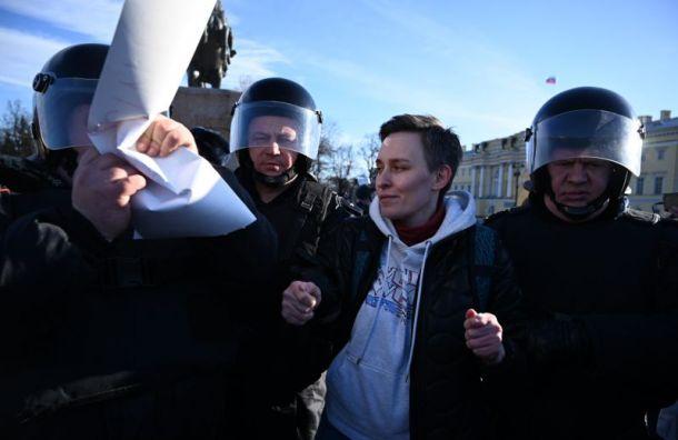 Задержаны более 20 участников пикета против поправок вКонституцию
