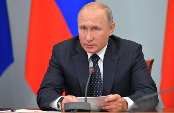 Владимир Путин посадил Россию нанедельный карантин