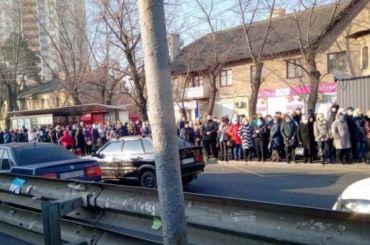 Транспортный коллапс случился вКиеве из-за закрытого метро