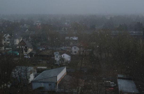 Синоптик: «Снег вПетербурге вконце апреля нередкость»