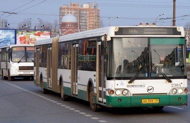 Часть маршрутов общественного транспорта приостановлено вПетербурге