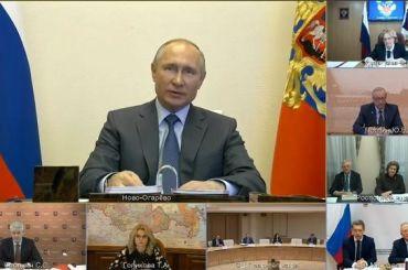 Путин: Пик заболеваемости коронавирусом вРоссии ещё впереди