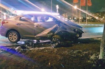 Пьяный водитель почувствовал себя гонщиком иразбился