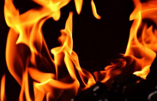 НаПетергофоском шоссе сгорела трехкомнатная квартира