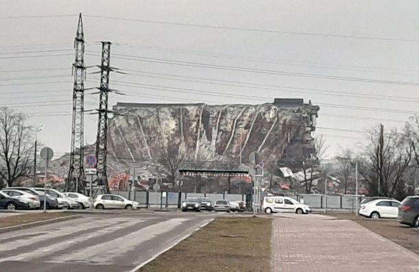Строители начали демонтаж подземной части СКК «Петербургский»
