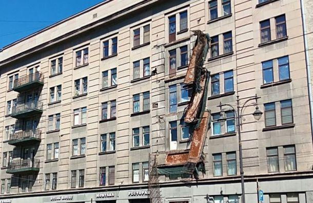 Мейксин: Обрушившиеся балконы дома наКирочной небыли аварийными