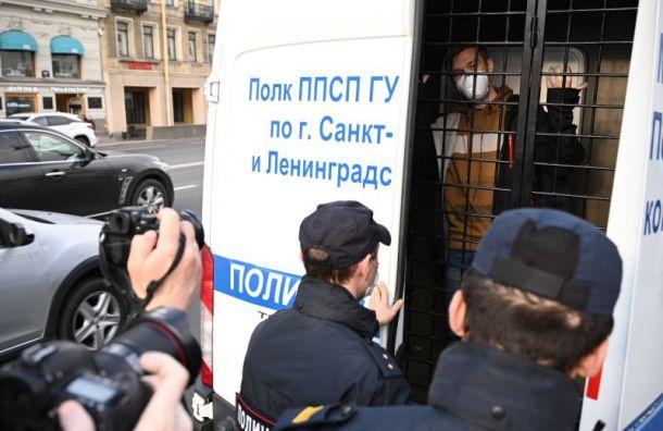 Семерых петербургских активистов задержали уГостиного Двора