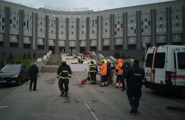 Названа причина пожара вбольнице Святого Великомученика Георгия