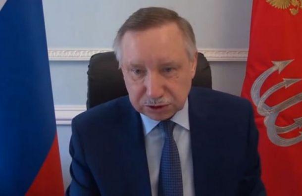 Беглов снял слица маску выступая впарламенте Петербурга