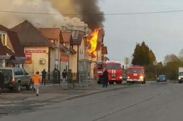 Пожаром вгатчинском торговом центре заинтересовалась прокуратура