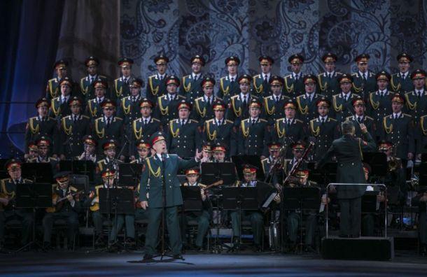 Парад Победы завершится вПетербурге хоровым пением 4,5 тысяч военных