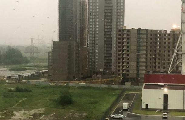 Настройке вЖК «Цветной город» рухнул строительный кран