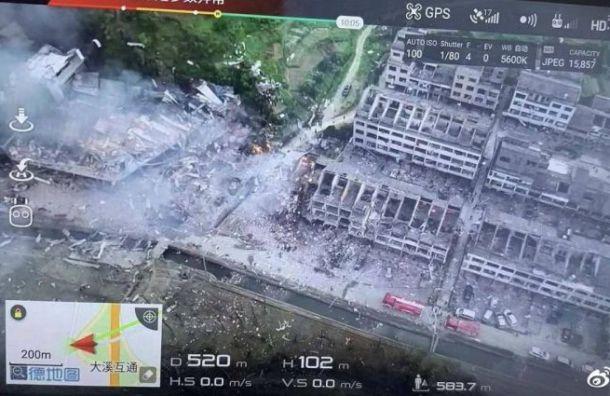 Число погибших  взрыва автоцистерны ссжиженным газом в КНР  выросло до  10