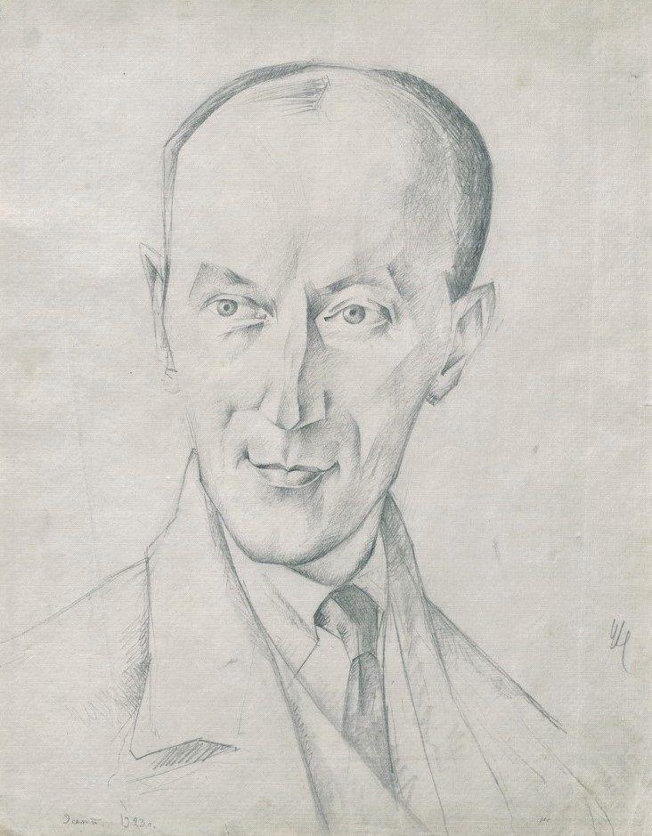 Н. П. Ульянов. Портрет М. Д. Беляева. 1923 г. Бумага, карандаш.jpg