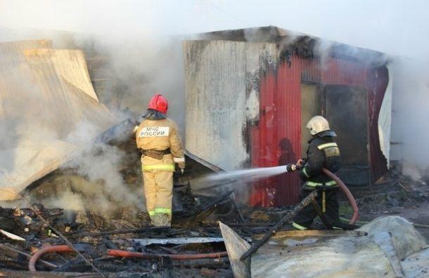 Таможенный склад полыхает вКрасногвардейском районе