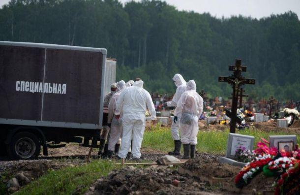 Петербург вышел напервое место посуточной смертности откоронавируса