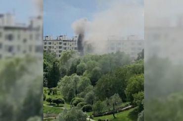 Наюге Москвы произошел взрыв вжилом доме