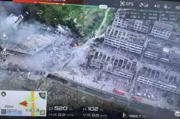 ВКитае наскоростном шоссе взорвался бензовоз
