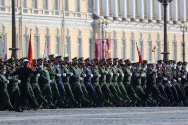 ВПетербурге проходит парад вчесть Победы вВеликой Отечественной войне