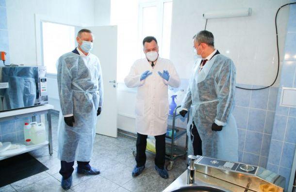 Беглов посетил лабораторию, где COVID-19 диагностируют методом ПЦР