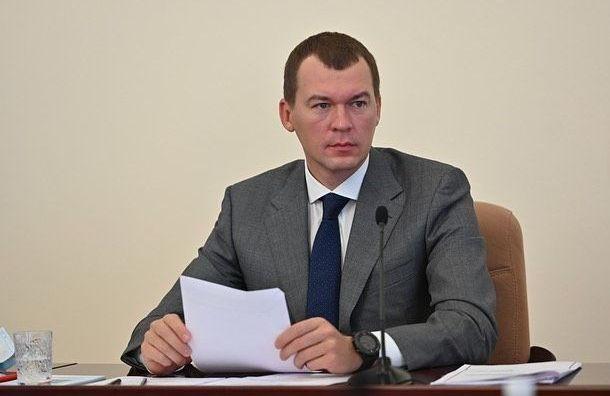 Дегтярев вышел кучастникам митинга вХабаровске