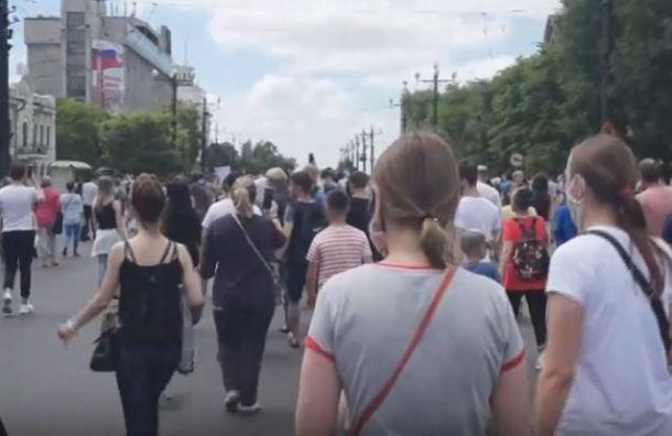 Жители Хабаровска вновь вышли намитинг вподдержку Фургала