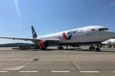 Авиакомпания Azur Air возобновила рейсы изПетербурга вСочи
