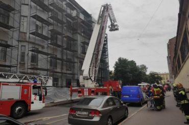 Горит одна изкомнат вкоммуналке наОраниенбаумской улице