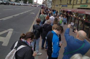 НаМалой Садовой проходит акция против поправок вКонституцию
