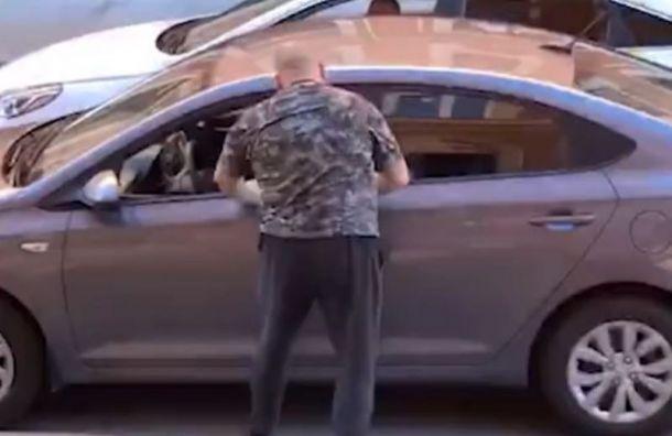 Неадекватный пешеход напал наводителя Hyundai наГороховой улице