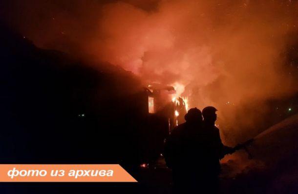 Женщина пострадала при пожаре вСНТ под Приозерском