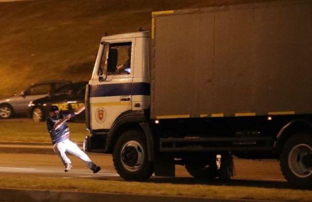 ВМинске погиб один участник протеста, его сбил автозак