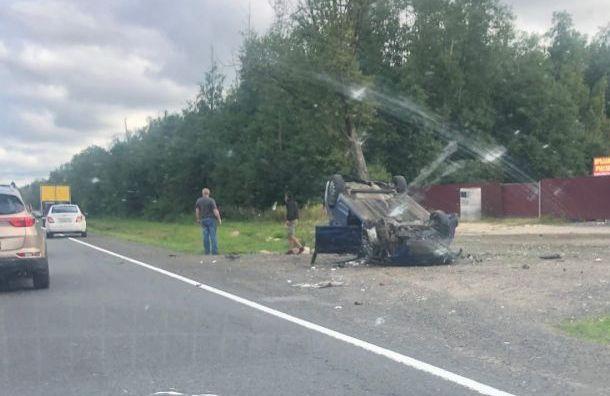 Водитель Suzuki погиб вмассовом ДТП натрассе Петербург— Псков