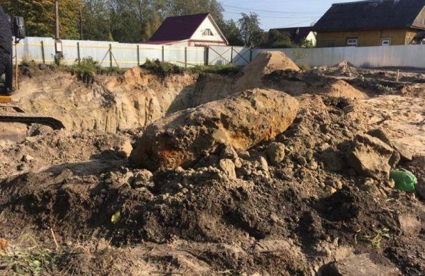 Настройке вНевской Дубровке обнаружили бомбу весом 500кг