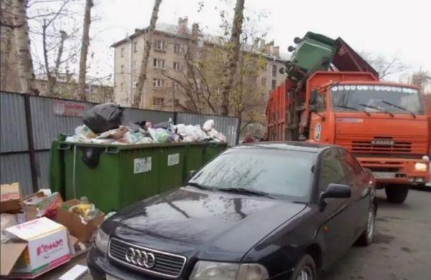 ВПетербурге могут начать штрафовать запарковку умусорных баков