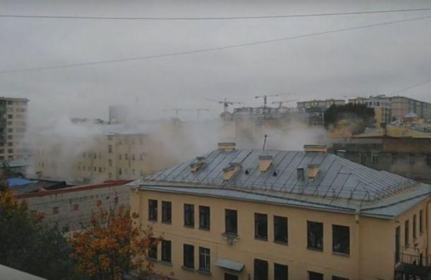 Трубу скипятком прорвало наулице Егорова