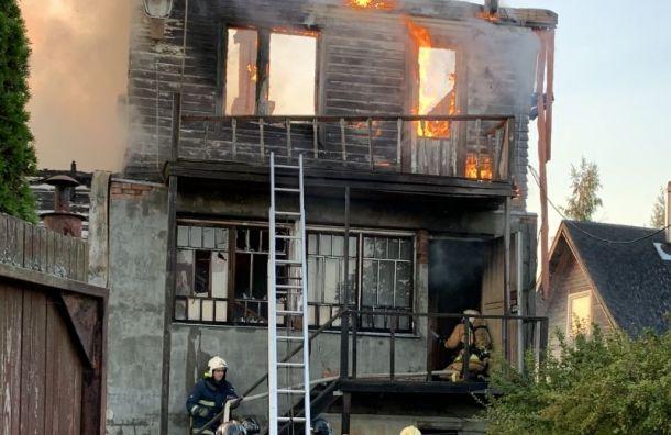 ВДачном поселке впожаре погибла пожилая женщина
