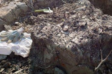 Поисковики нашли вШушарах останки красноармейца, убитого взрывом