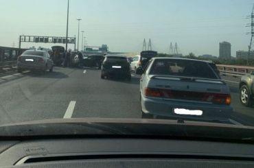Восемь столкнувшихся наКАД машин спровоцировали огромную пробку